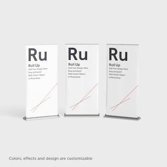 Drie roll ups presentatie