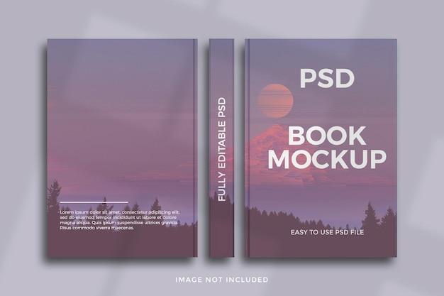 Drie weergaven boekomslag mockup-ontwerp Premium Psd