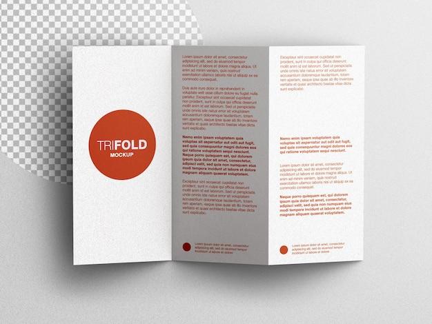 Driebladige a4 briefpapier brochure flyer mockup scèneschepper plat lag geïsoleerd