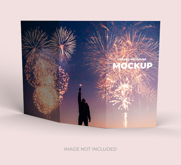 Driebladige brochure buiten weergave mockup ontwerp geïsoleerd