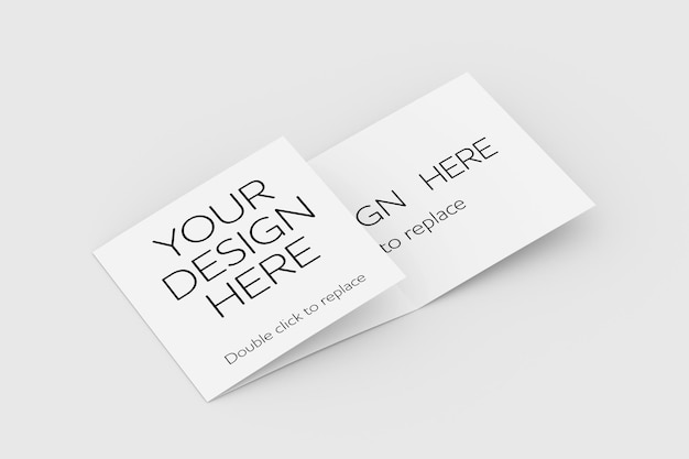 Driebladige brochure mock up weergave 3d-rendering
