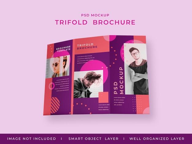 Driebladige brochure mockup design geïsoleerd