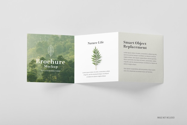 Driebladige brochure mockup-sjabloon