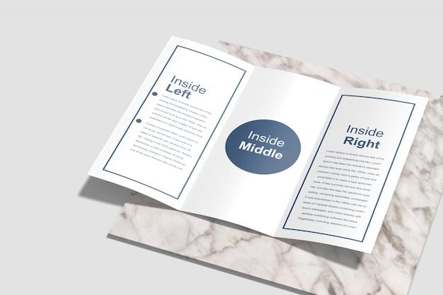 Driebladige brochure mockup