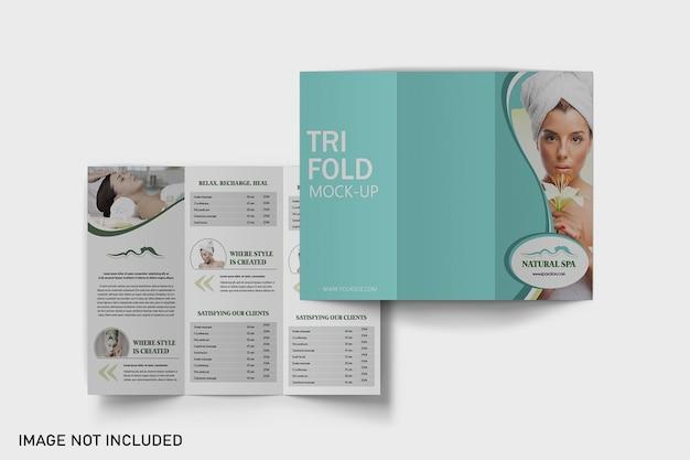 Driebladige brochure mockups