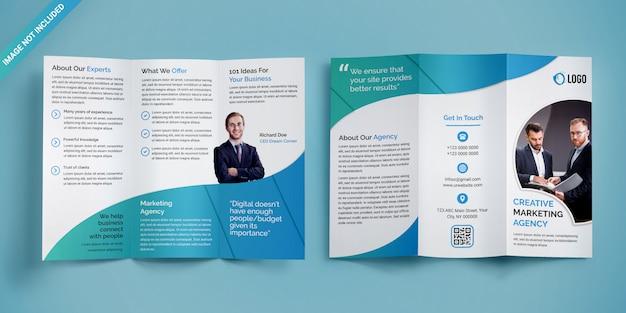 Driebladige brochure