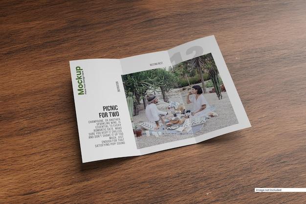 Driebladige brochuremodel a4