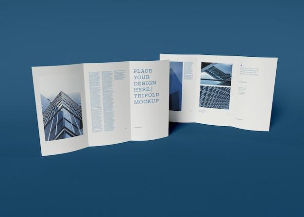 Driebladige brochuremodel