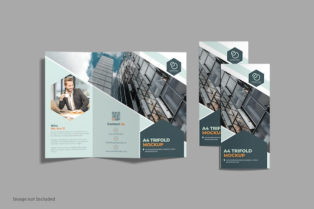 Driebladige brochuremodellen