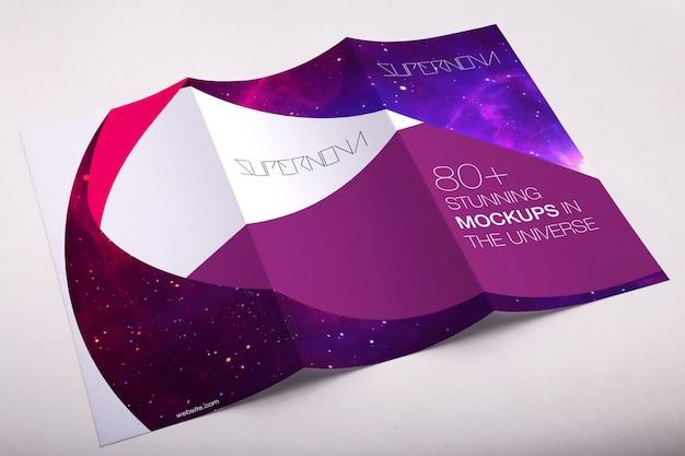 Driebladige mock up design