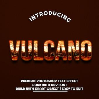 Driedimensionale tekst van vulcano