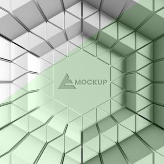 Driehoekige 3d achtergrond