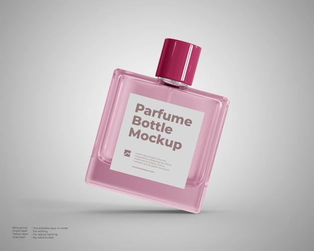 Drijvend glazen parfumflesje mock