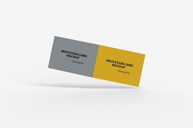 Drijvend van tweevoudig uitnodigingskaartmodel
