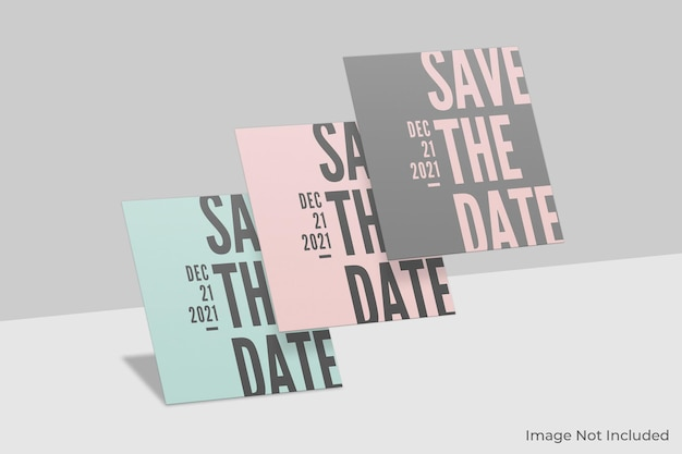 Drijvend vierkant uitnodigingsmodel