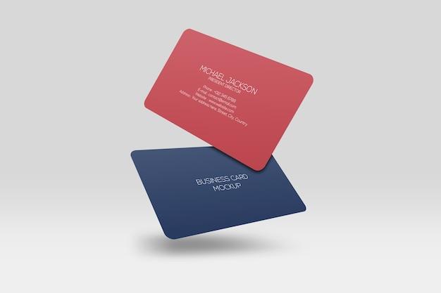 Drijvend visitekaartje met afgeronde hoeken
