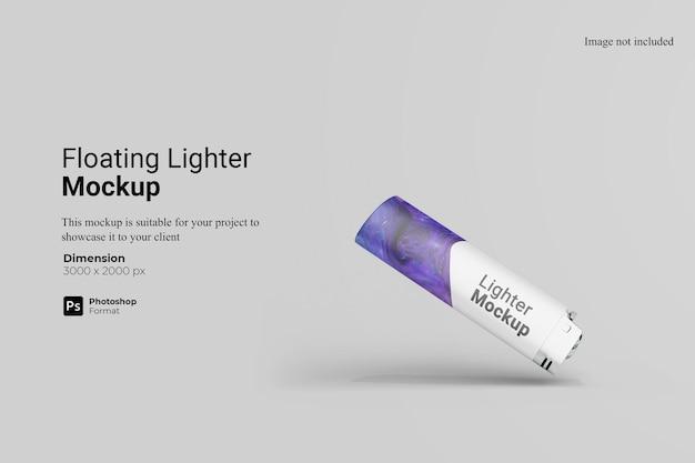 Drijvende aansteker mockup design rendering