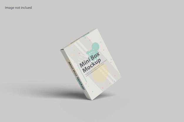 Drijvende doos mockup-ontwerp