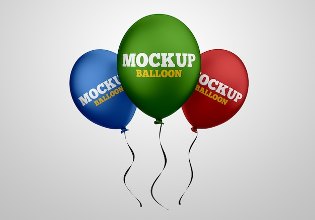Drijvende helium ballonnen mockup