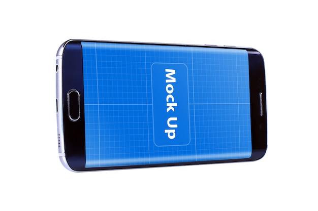 Drijvende mobiele mockup