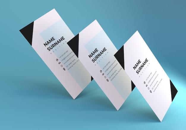 Drijvende stack visitekaartje mockup