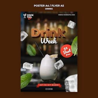 Drink week poster sjabloon