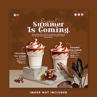 Drinken menu zomer sjabloon social media post banner