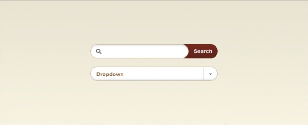 Dropdown-ingang rode knop