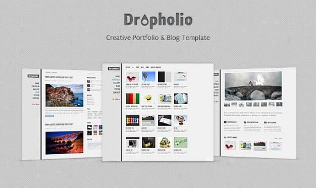 Dropholio - homepage psd