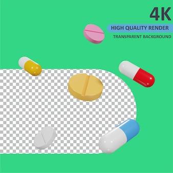 Drugs cartoon weergave 3d-modellering