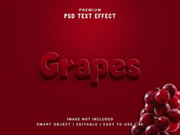 Druiven teksteffect mockup.