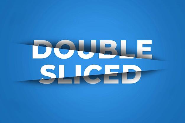 Dubbel gesneden teksteffect