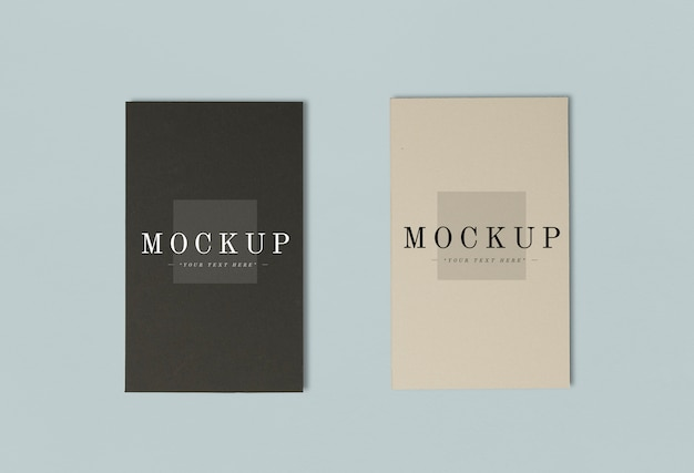 Due colori di mockup della carta di nome