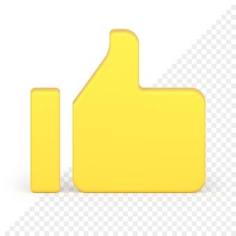 Duim omhoog 3d-pictogram