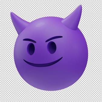 Duivel emoji 3d illustratie