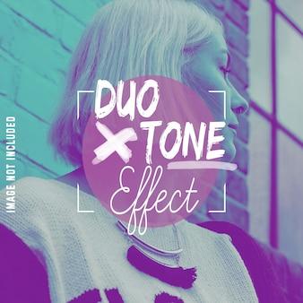 Duo-tooneffect voor uw foto's