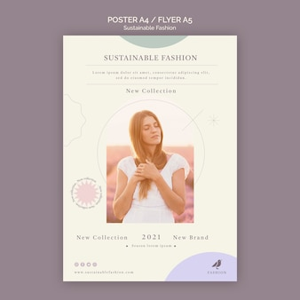 Duurzame mode flyer afdruksjabloon