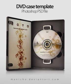 Dvd case kunst psd-bestand