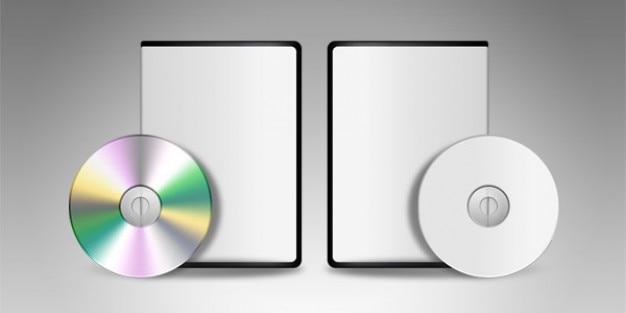 Dvd cd en blanco plantilla