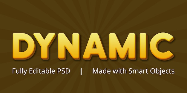 Dynamisch bewerkbaar psd-tekststijleffect