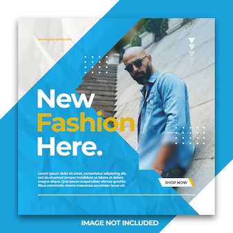 Dynamische elegante sociale media instagram-banner of vierkante flyer-postsjabloon