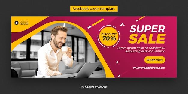 Dynamische superverkoop facebook omslagpostsjabloon