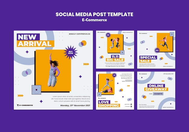 E-commerce social media postsjabloon media