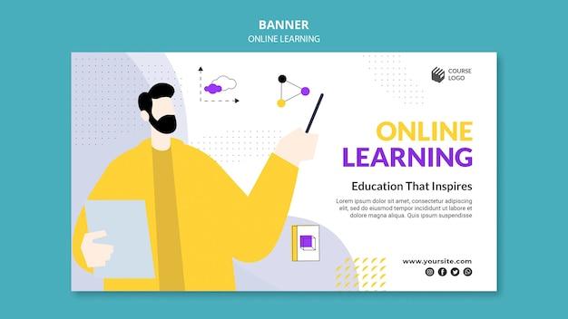 E-learning bannermalplaatje geïllustreerd