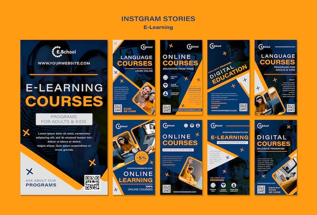 E-learning cursussen instagram stories