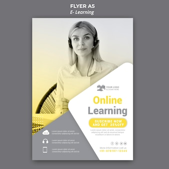 E-learning flyer-sjabloon
