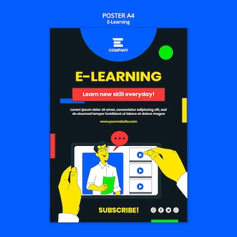 E-learning platform poster sjabloon