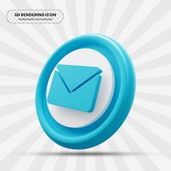 E-mailpictogram in 3d-rendering