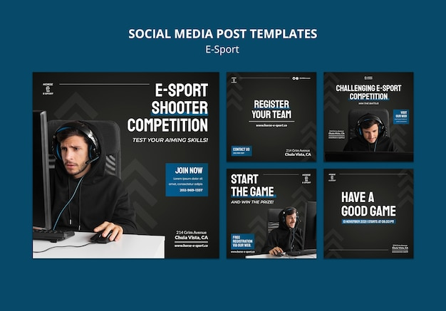 E-sport posts op sociale media