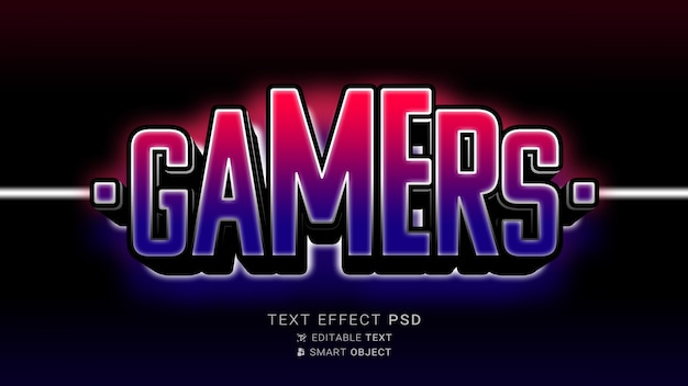 E-sports con efecto de texto